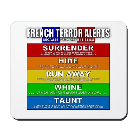 French Terror Alerts Mousepad