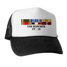 uss-hancock-cv-19-group-text Trucker Hat