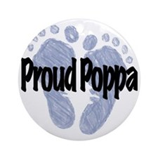 Proud Poppa (Boy) Round Ornament