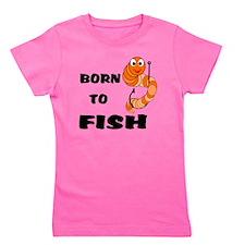 Born To Fish Girl's Tee