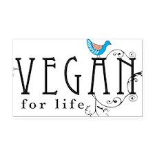 vegan-border2 Rectangle Car Magnet