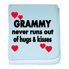 GRAMMY NEVER RUNS OUT OF HUGS KISSES baby blanket