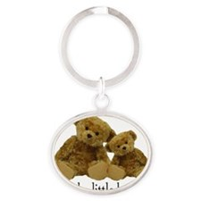 Two Bears Little Brother Oval Keychain