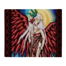 crimson wings 11x11 200dpi Throw Blanket
