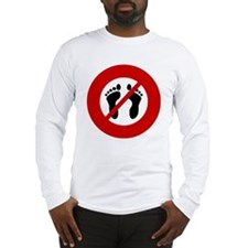 no-bare-feet Long Sleeve T-Shirt