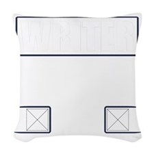 Writer Vest Woven Throw Pillow