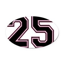 Back #25 Oval Car Magnet
