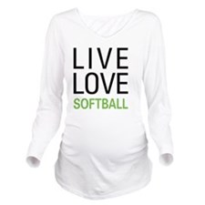 Live Love Softball Long Sleeve Maternity T-Shirt