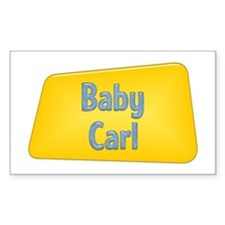 Baby Carl Rectangle Decal