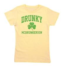Drunky -green Girl's Tee