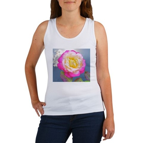 French Perfume Rose Coaster, Tile Women's Tank Top