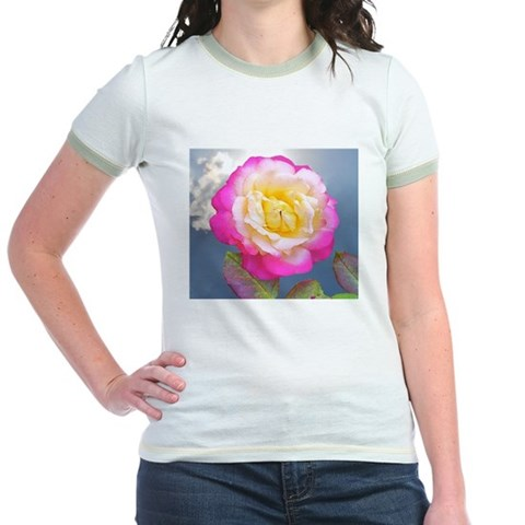 French Perfume Rose Coaster, Tile, K T-Shirt