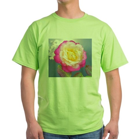 French Perfume Rose Coaster, Tile, K Green T-Shirt