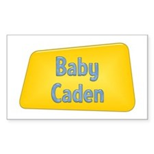 Baby Caden Rectangle Decal