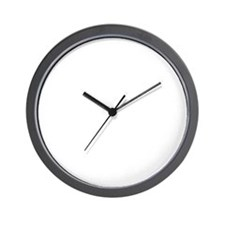 CircleLogoALLWHITE Wall Clock