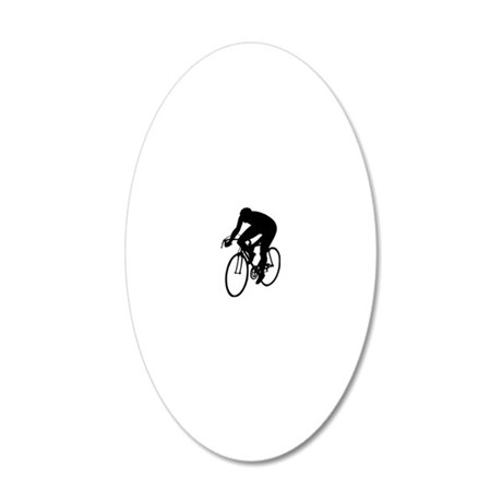 Cycling 2.eps 20x12 Oval Wall Decal