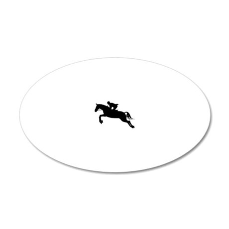 HorseJumper.eps 20x12 Oval Wall Decal
