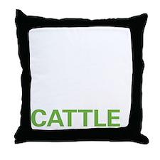 livecattle2 Throw Pillow