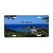 St Lucia 14x6 Aluminum License Plate