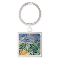 Mont Sainte-Victoire, 1900 by Paul Square Keychain