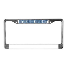 Little Greek Tough Guy Hat License Plate Frame