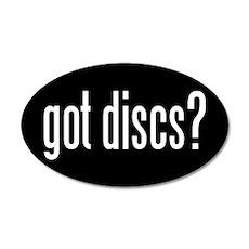 got-discs-oval-black 35x21 Oval Wall Decal