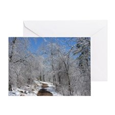 Snow and Ice Trail Greeting Card