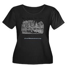 teaparty Women's Plus Size Dark Scoop Neck T-Shirt