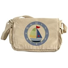 Sailboat Wall Clock Messenger Bag