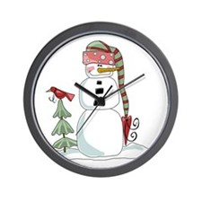 Loving Snowman Wall Clock
