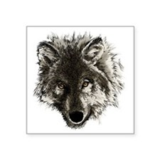 "wolf port_dark Square Sticker 3"" x 3"""