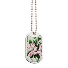Vintage French Christmas amaryllis Dog Tags