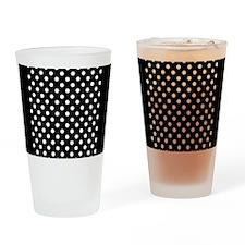 bw-polkadot Drinking Glass