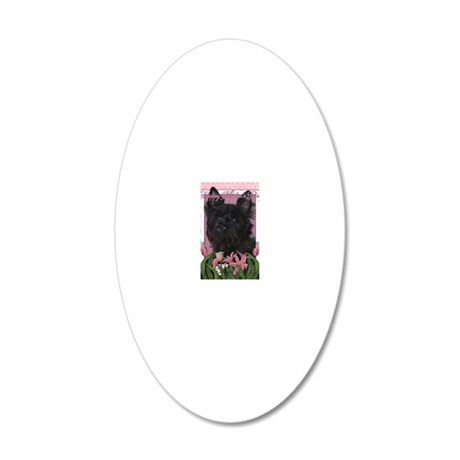 Mothers_Day_Pink_Tulips_Cair 20x12 Oval Wall Decal