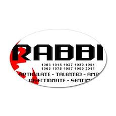 rabbit56light 35x21 Oval Wall Decal