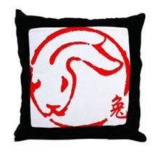 rabbit51dark Throw Pillow