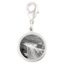 bausell note card Silver Round Charm