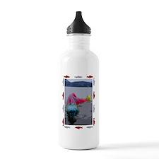 fishfacev2 Water Bottle