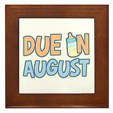 Due In August Boy Framed Tile