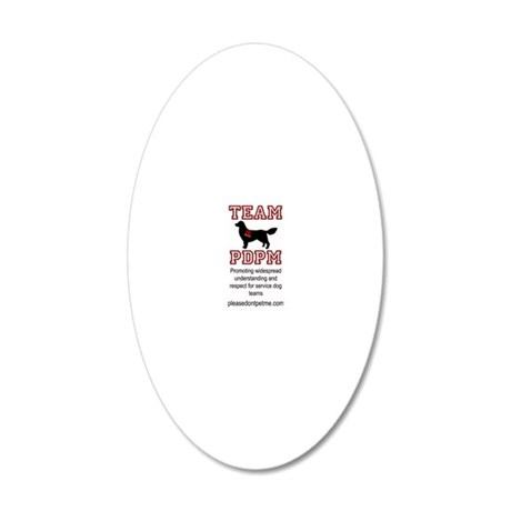 Team PDPM Mission and URL 20x12 Oval Wall Decal