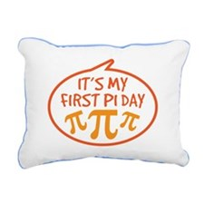 Babys First Pi Day Rectangular Canvas Pillow