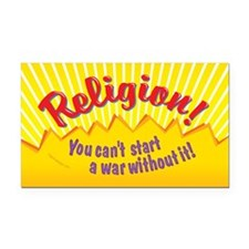 Religion-You Cant Start a War Rectangle Car Magnet