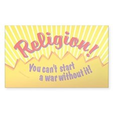 Religion-You Cant Start a War  Decal