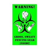 Biohazard Sticker (green)