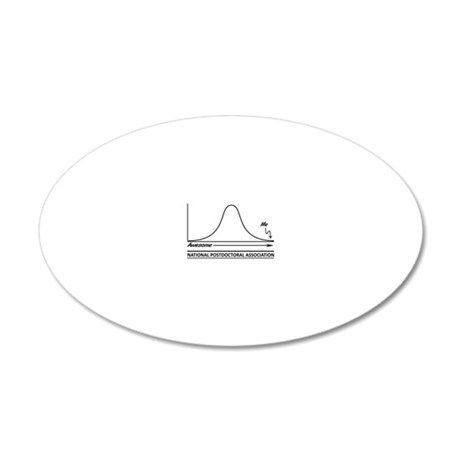 Graph Lighter Side Black 20x12 Oval Wall Decal