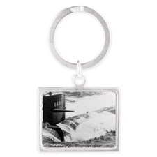 bergall rectangle magnet Landscape Keychain