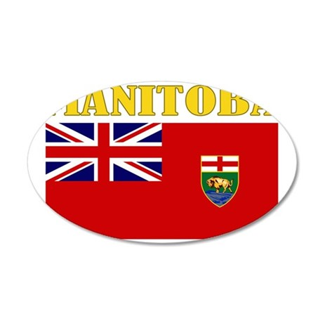 Manitoba-Flag 35x21 Oval Wall Decal