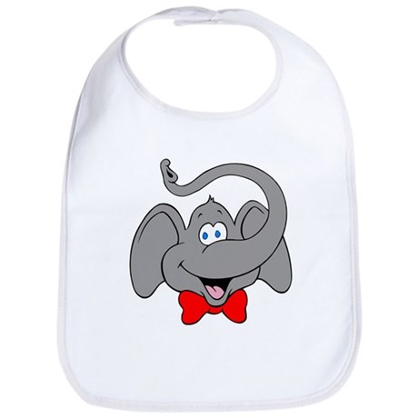 Cute Elephant Cartoon Bib
