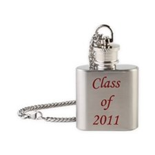 Class of 11 3x3 Flask Necklace
