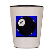 eight_ball_blue Shot Glass